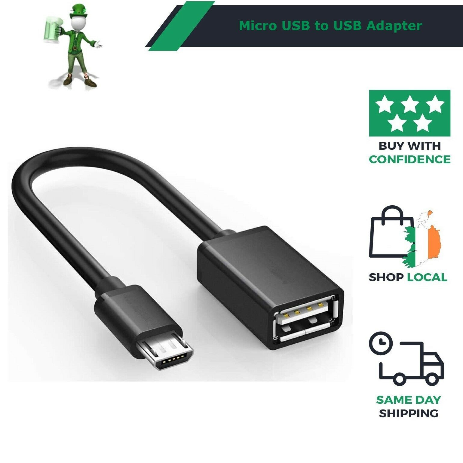 Micro USB Male host to USB Female OTG Adapter Cable For Android Mobile Tablet PC