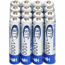 16x AAA 1000mAh 1.2V Ni-MH Rechargeable battery 3A BTY Cell for MP3 RC Toys