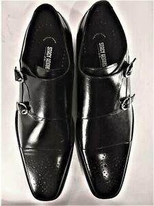 Stacy-Adams Men/'s Trevor slip-on Black leather Shoes 24943-001
