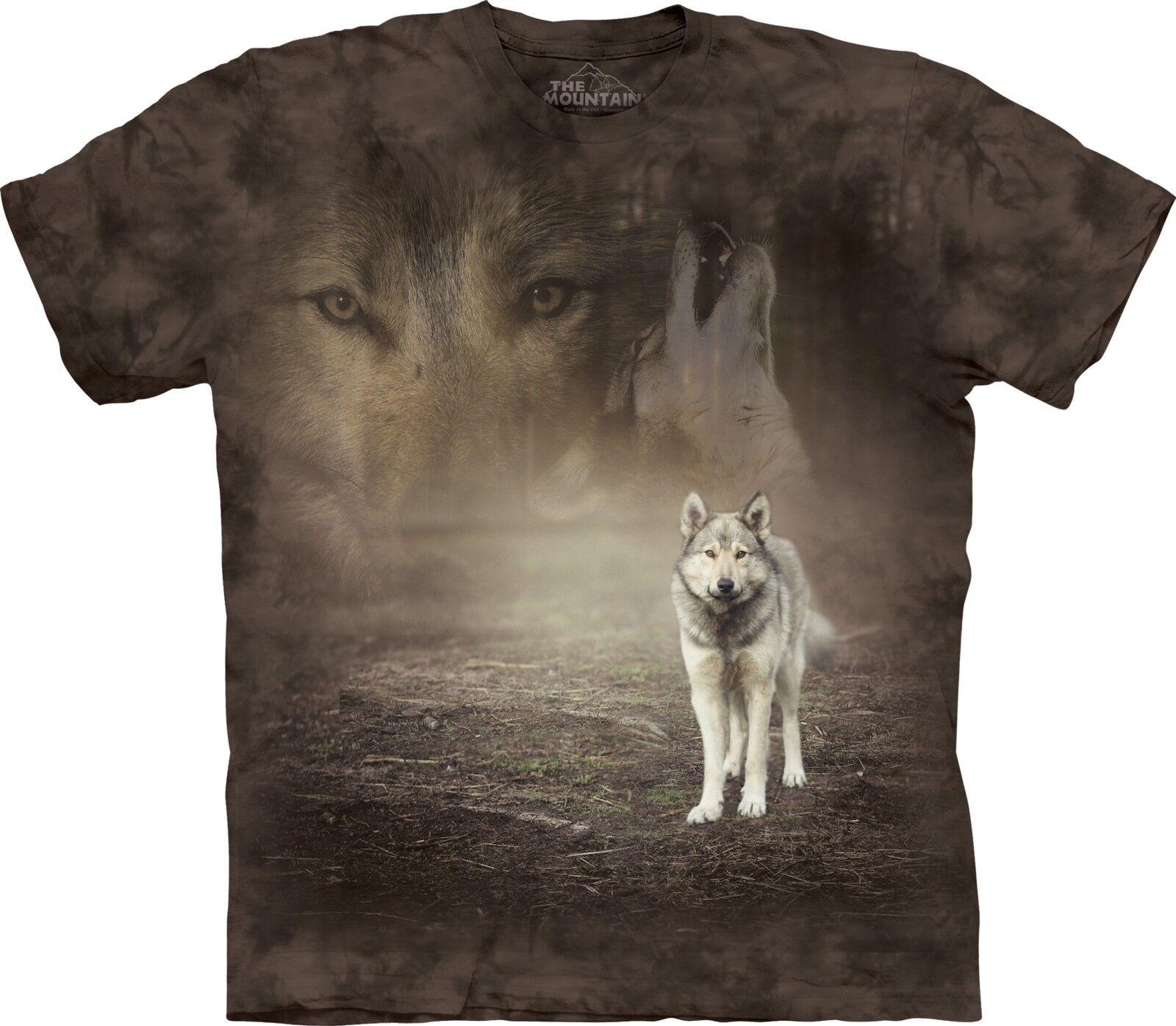 The Mountain Unisex Adult Grey Wolf Portrait Animal T Shirt