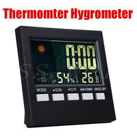 LCD Digital Thermometer Hygrometer Temperature Meter Weather Station Clock Alarm