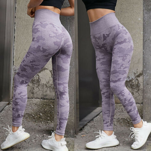 Womens Sports Seamless Leggings High Waist Push up Ladies Fitness Gym Yoga Pants