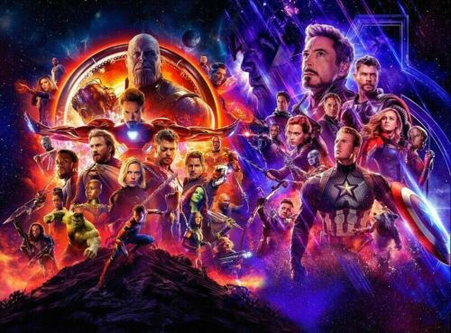 Avengers Infinity War End Game Fabric Poster Print Marvel Comics 6495