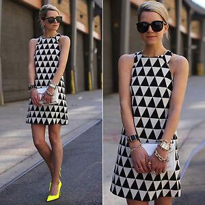 Women-039-s-Sleeveless-Tunic-Shift-Short-Dress-Evening-Party-Cocktail-Mini-Sundress