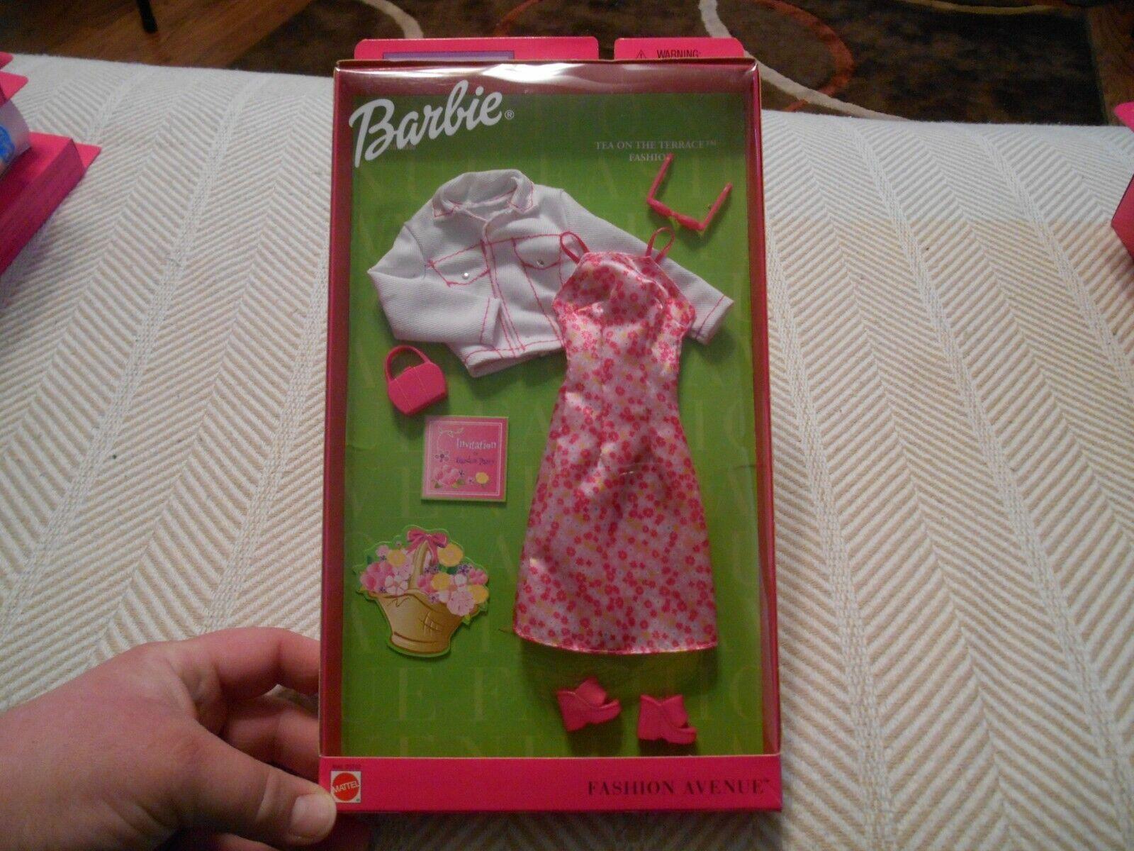 DRESS BARBIE MATTEL DOLL PRETTY FLOWERS PINK SPRING FLOWER PRINT DRESS ACCESSORY
