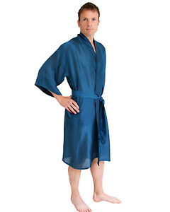 Robe!! BNWT Mens Long Satin Kimono Dressing Gown