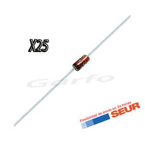 25X Diodo Zener 20V 500mW 0,5W DO-35