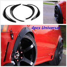 Car SUV 4pcs Black Flexible Fender Flares Durable Polyurethane Universal Kits