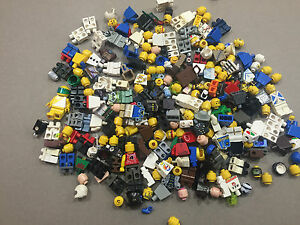8-Ounces-Lego-Minifig-parts-Damaged-Faded-Marked-Cracked-minifigures-Lot-V202