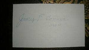 Sgt. JAMES P. CONNOR USA WWII Medal of Honor MOH Signed 3x5 Card  Scarce