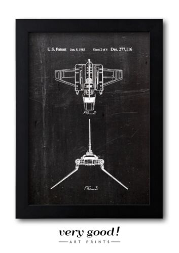 Star Wars Imperial Shuttle 1985 Patent Art Fine Art-Print A4 Galeriequalität S2