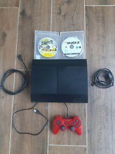 PS3 Ultra Slim 500 GO CECH4204A FW 4.87 avec 2 jeux et 1 manette.