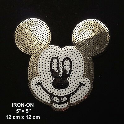 3pcs Minnie and Mickey Embroidered Iron//Sew ON Patch Cloth Sew Applique for Kids