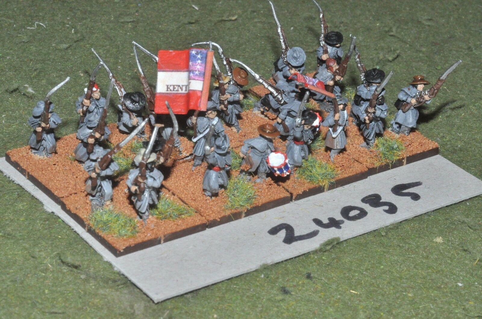 15mm ACW   confederate - regiment 24 figures - inf (24035)