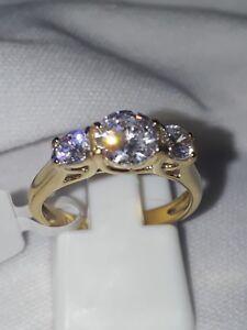 Hermosa-estimulado-Diamante-Anillo-De-Acero-Inoxidable-Reino-Unido-L-EE-UU-6