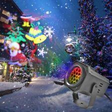 12 Pattern Motion Christmas Landscape Lights Projector LED Spotlight Waterproof