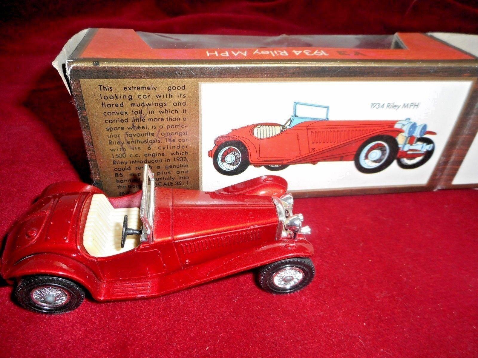 Original  MATCHBOX 1934 RILEY  MPH  1 43 Models of Yesteryear metal Y-3