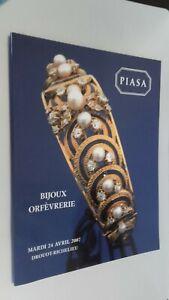 Catálogo De Venta Piasa Goldsmith Drouot Abril 2007 Buen Estado