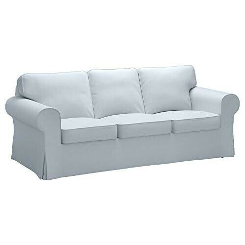 Ikea Ektorp Loveseat Sofa Slipcover Klintbo French Country Blue