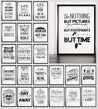 Motivational Inspirational Prints Funny Quote Posters A4 A3 Wall Art Decor