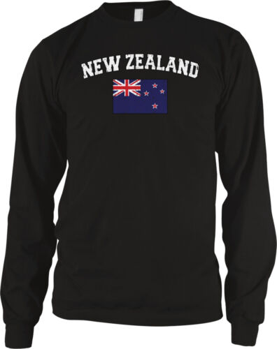New Zealand Country Flag Pride Rugby Football Soccer  Long Sleeve Thermal