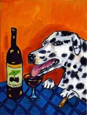 dachshund beer dog 4x6  glossy print animals impressionism artist gift new