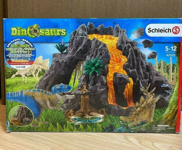 Schleich North America Giant Volcano With T-Rex Play Set 42305 Dinosaurs