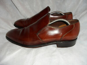 Size Brown Eu Son 45 Shoe 5 Leather 5 Uk 11 On Foster Vgc Men's Slip amp; S8qqgt