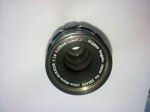 very rare lens nikon Ultra Micro NIKKOR 1:1.8 f=28mm M=1/10  Nippon Kogaku m39