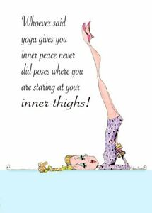 Funny Yoga Pose Woman Birthday Card Vanity Cases By Collene Kennedy Ebay