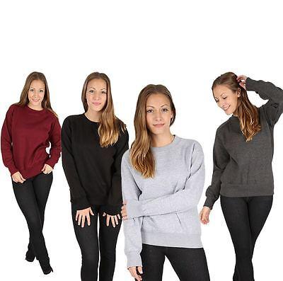 New Women Ladies Girls Plain Raglan Jumper Sweatshirt Casual Top S/m/l/xl