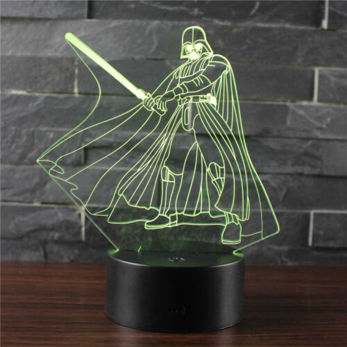 Darth Vader Signature Move Acrylic 3D LED Night Light Touch Table Desk Lamp Gift