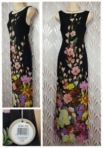 Bnwt Apricot Black Floral Maxi Summer Dress Size 8 Holiday Cruise Wedding Guest Ebay,Older Brides Mature Wedding Dresses For Brides Over 50