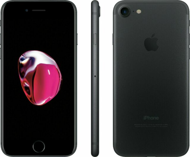 Apple iPhone 7 32GB GSM Unlocked (GSM) Matte Black BAD Home Button / Touch ID