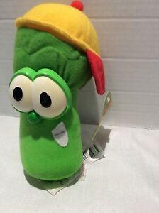 "Vintage Larry The Cucumber Plush Veggie Tales Fisher Price Cartoon 6"" Toy"