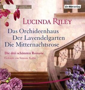 LUCINDA-RILEY-DIE-DREI-SCHONSTEN-ROMANE-BOX-ORCHIDEENHAUS-4-MP3-CD-NEW