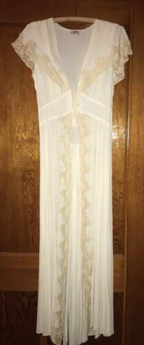 Glamorous 40's Tula Peignoir Dressing Gown Robe Na