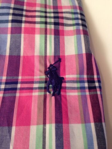 Pink Shirt Lauren Small Sleeve Custom Mens Rrp Long Check Plaid Fit £85 Ralph qawYBzxgz