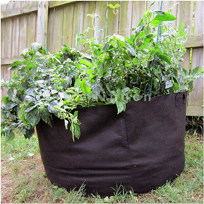 New Great Decorative Foldable Reusable Polyester Barrel Easy Garden Planter Bag