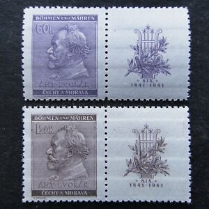 Germany-Nazi-1941-Stamps-MNH-Third-Reich-WWII-Deutschland-Bohemia-amp-Moravia-B-amp-M