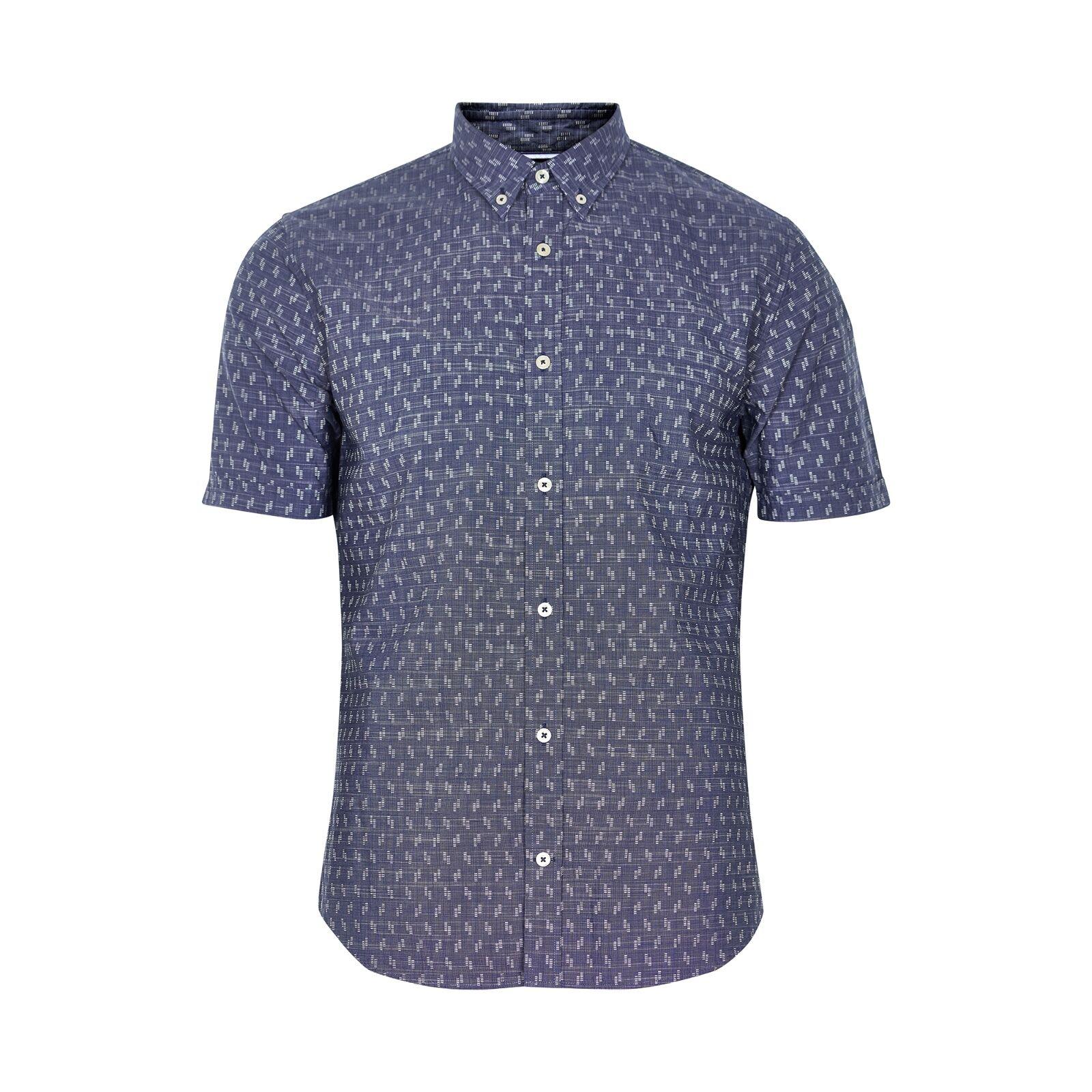 Matinique Trostol BD Geo Jacquard Shirt Navy Blazer - Extra Large