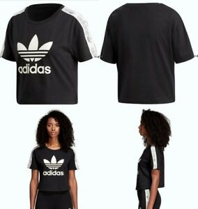 bb4714a7ed Adidas Cropped Tee Black / Chalk White Size Extra Large Womens ...