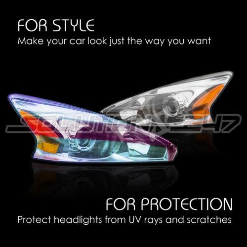 """1 x 5 FT PURPLE Chameleon Neo Headlight Taillight Fog Gloss Vinyl Tint 12/""""x60/"""""""
