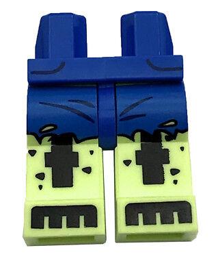 LEGO NEW BLUE MINIFIGURE PANTS LEGS FIGURE SASH PATTERN