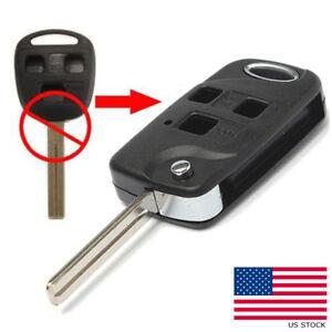 4 Button For Lexus LS400 ES300 Uncut Replacement Key Shell Case Fob