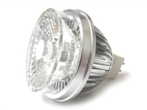 A2ZWORLD LAMPADA FARETTO LED DICROICA MR16 GU5.3 COB 5W BIANCO FREDDO 12V CON LE