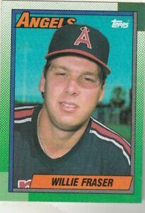 FREE-SHIPPING-MINT-1990-Topps-477-Willie-Fraser-Angels-PLUS-BONUS-CARDS