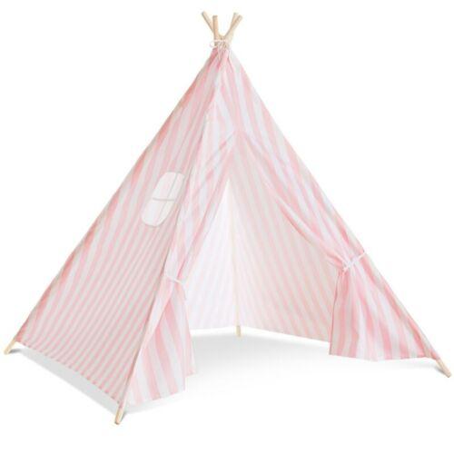 Tipi d/'indien rayé rose tente de jeux pour enfant