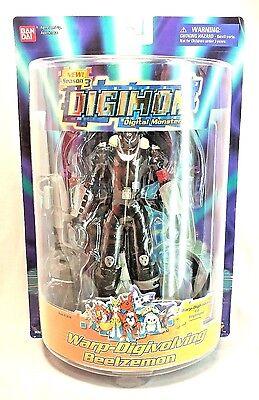 "DIGIMON Warp Digivolving Beelzemon into Impmon 8/"" Factory Sealed 2002 New"