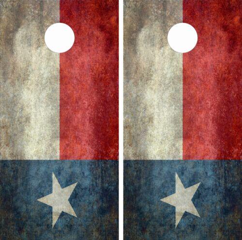 Texas State Flag CORNHOLE WRAP SET High Quality Vinyl Board DECAL